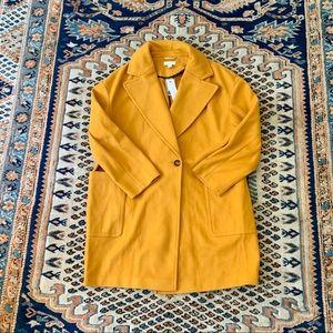 Topshop Mustard Yellow Carly Coat NWT